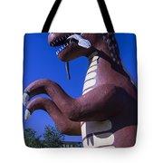 Roadside Dinosaur Tote Bag