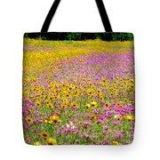 Roadside Flower Garden Tote Bag