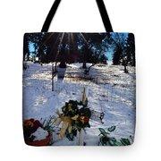Roadside Reminder Tote Bag