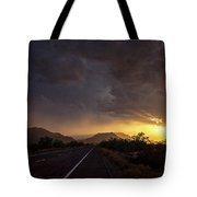 Roadside Sunset  Tote Bag