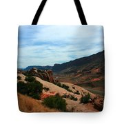 Roadway Rock Formations Arches National Park Tote Bag