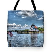 Roanoke River Lighthouse No. 2 Tote Bag