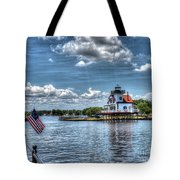 Roanoke River Lighthouse No. 2a Tote Bag