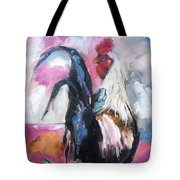 Roanoke Rooster Painting Tote Bag