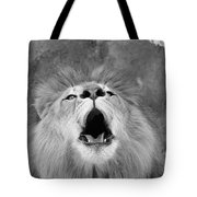 Roar  Black And White Tote Bag