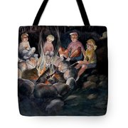 Roasting Marshmallows Tote Bag