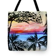 Roatan Sunset Tote Bag