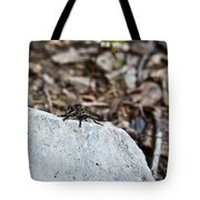 Robber Fly Sitting Tote Bag