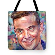 Robbie Williams Portrait Tote Bag