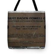 Robert Baden-powell Plaque Tote Bag