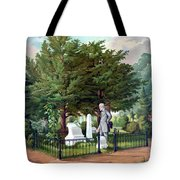 Robert E. Lee Visits Stonewall Jackson's Grave Tote Bag