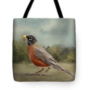 Robin Abstract Background Tote Bag