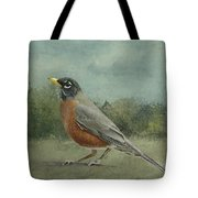 Robin Abstract Background With Texture Tote Bag