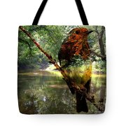 Robin By The River Tote Bag