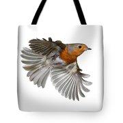 Robin In Flight Tote Bag