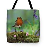 Robin In Spring Wood Tote Bag
