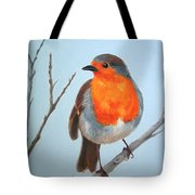 Robin In The Tree Tote Bag