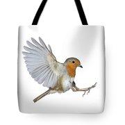 Robin Landing Tote Bag