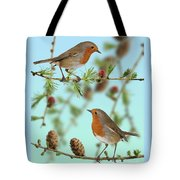Robins On Larch Tote Bag
