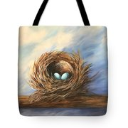 Robin's Two Eggs Tote Bag