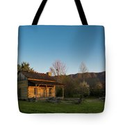 Robinson Cabin At Wilderness Road State Park Tote Bag