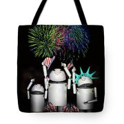Robo-x9 And Family Celebrate Freedom Tote Bag