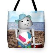 Robo-x9 At The Beach Tote Bag