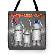 Robo-x9 New Years Celebration Tote Bag