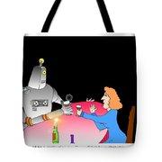 Robot Dining Cartoon Tote Bag