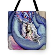 Robot Dragon Lady Tote Bag