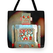 Robot Pop Art R-1 Tote Bag