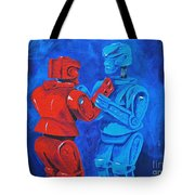 Robot Wars Tote Bag