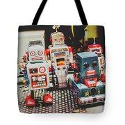 Robots Of Retro Cool Tote Bag