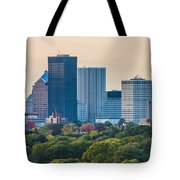 Rochester Ny Skyline At Dusk Tote Bag