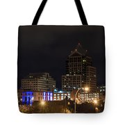 Rochester Skyline From Freddie-sue Bridge Tote Bag
