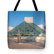 Rock And Roll Hall Of Fame I Tote Bag by Clarence Holmes