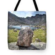 Rock At Abyss Lake Tote Bag