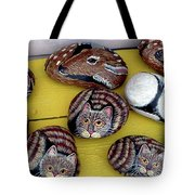 Rock Cats And Fawns Tote Bag