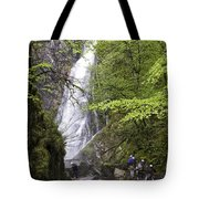 Rock Climbers At Graymare's Tail Falls Tote Bag
