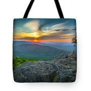 Rock Climbing At Ravens Roost Tote Bag