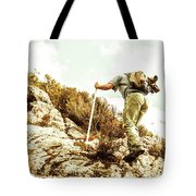 Rock Climbing Mountaineer Tote Bag