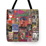 Rock Concert Posters Collage 1 Tote Bag