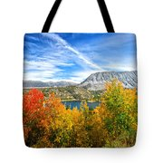 Rock Creek Lake Fall Panorama Tote Bag