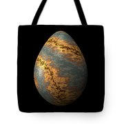 Rock Egg With Warm Yellow Lines Tote Bag