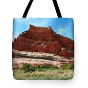 Rock Formation Of La Sal Mountains Tote Bag