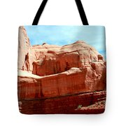 Rock Formation Of Red Sandstone Arches National Park Tote Bag