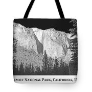 Rock Formation Yosemite National Park California Tote Bag