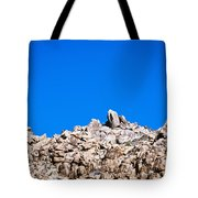 Rock Formations And Blue Sky Tote Bag