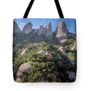 Rock Formations Montserrat Spain Tote Bag
