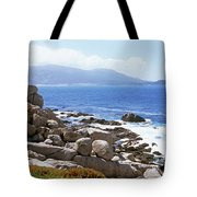 Rock Formations On The Coast, 17-mile Tote Bag